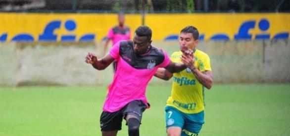 Na pré-temporada, time realizou um jogo-treino com o Palmeiras