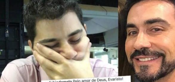 """Padre Fábio (à direita) e Evaristo: dois mitos da internet """"discutem"""" no Instagram"""