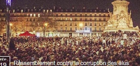 Un rassemblement s'organise pour dimanche prochain 19 fév., pl. de la République à Paris, à partir de 15 heures, contre la corruption des élus