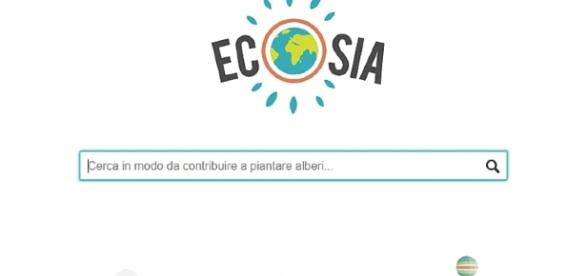 Barra di ricerca di ecosia.org