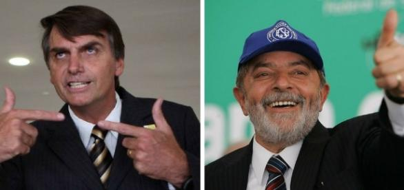 Bolsonaro e Lula 2018 na disputa acirrada