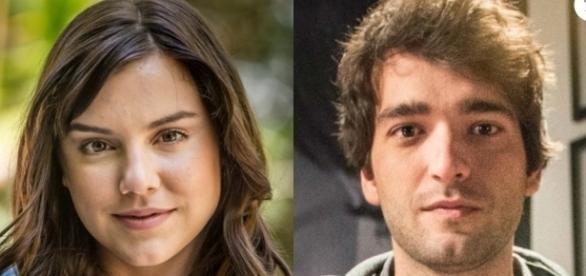 Imagem: Marina e Tiago na novela A Lei do Amor