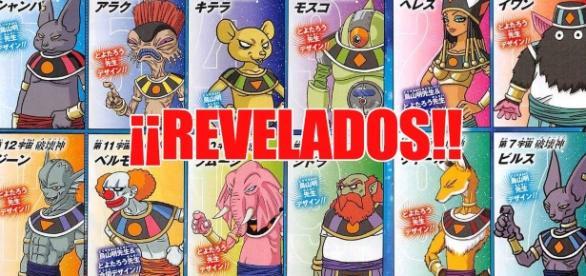 Nombres de los dioses de la destrucción de los 12 universos han sido revelados
