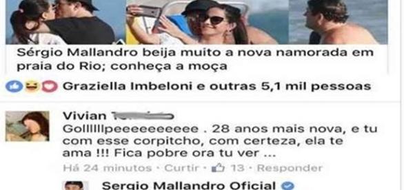Sérgio Mallandro dá resposta a seguidora (Foto: reprodução Facebook)