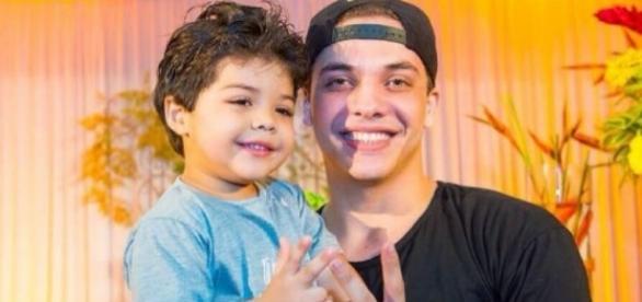 Wesley Safadão e o filho mais velho Yhudy