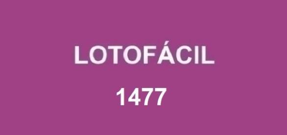 Anunciado o resultado da Lotofácil 1477, nesta segunda