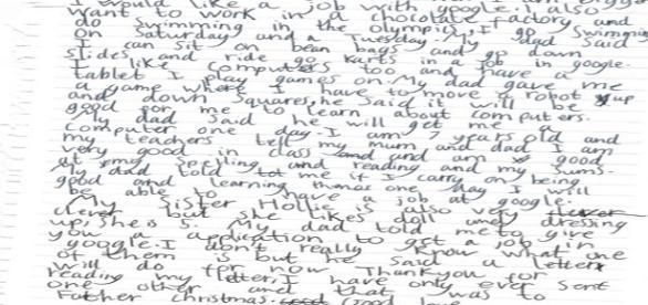 Carta escrita à mão é respondida pelo CEO da Google