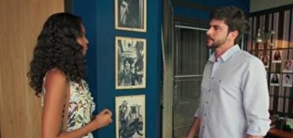 Joana e Garcez na novela 'Malhação' (Divulgação/Globo)