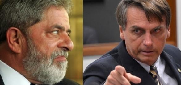 Lula (à esquerda) é considerado o favorito na disputa; Bolsonaro aparece em terceiro lugar