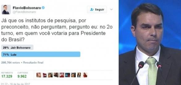 Lula ganhou de lavada a enquete proposta por Flavio.