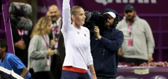 Tennis: Karolina Pliskova beats Wozniacki to secure her second title of the season in Doha. Picture courtesy of leparisien.fr