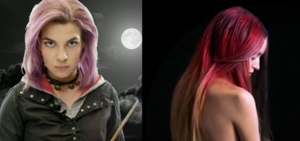 Tinta de cabelo criada por empresa britânica varia de cor quase instantaneamente (Crédito: YouTube/HarryPotterFolklore/WIREDUK)
