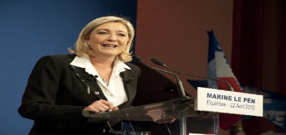 Marine Le Pen lors d'un discours en avril 2012