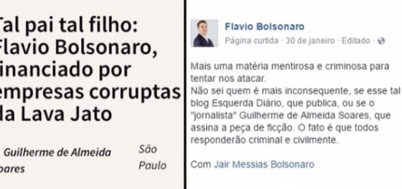 """A notícia falsa foi passada adiante pela página """"Esquerda Diário"""""""