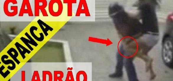 Garota espanca ladrões - Google