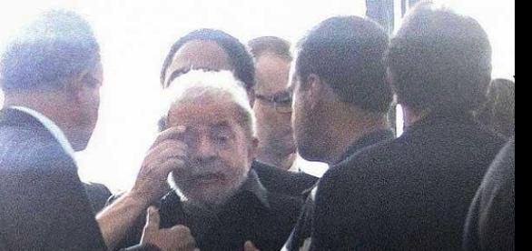 Imagem do presidente Lula, que deverá ser detido pela Polícia Federal nos próximos dias