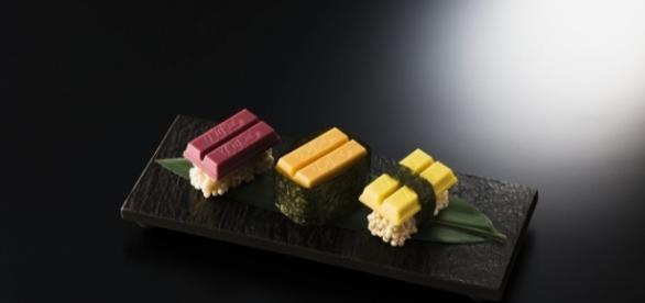 Kit Kat Sushi? You bet it's real, available at the Chocolatory Shop in Ginza Tokyo for alimited time / Photo from 'Otaku Mode' - otakumode.com