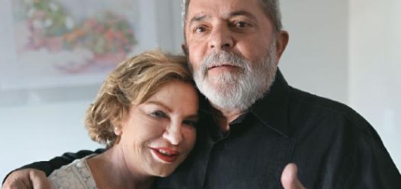 Lula e sua esposa, Marisa Letícia