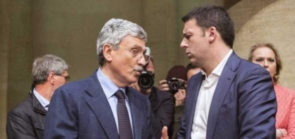 Massimo D'Alema e Matteo Renzi, la resa dei conti