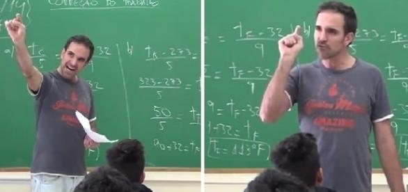 """O educador chega a mandar os aluno """"se arrombarem"""""""