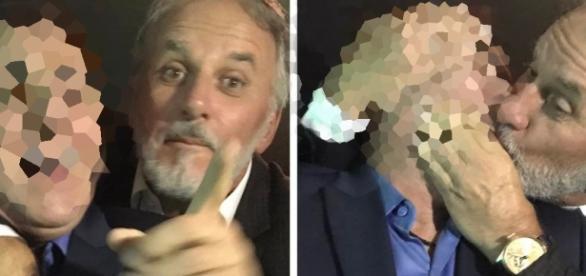 Otávio Mesquita beija comunicador famoso