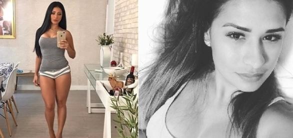 Simaria tira selfie mostrando seu belo corpo para seus fãs