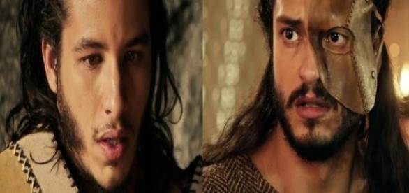 Zaqueu e Tobias em 'A Terra Prometida' (Divulgação/Record)