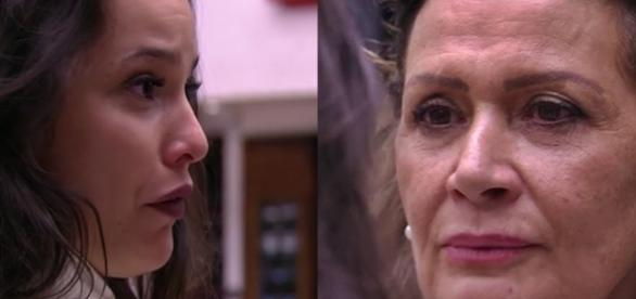 Emilly tira satisfação com Ieda e acaba ouvindo o que não precisava (Foto: reprodução TV Globo)