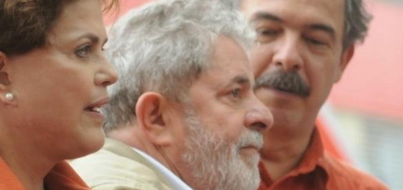Ex-presidentes, Dilma, Lula e ex-ministro Aloizio Mercadante