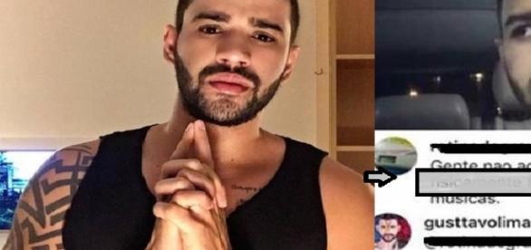 Gusttavo Lima dá resposta ríspida em fã que o criticou em rede social