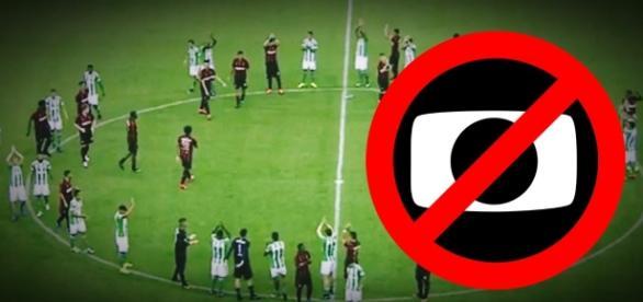 Jogo não acontece por polêmica com a Globo