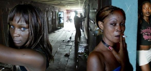 Prostitutas nigerianas enfermas de SIDA