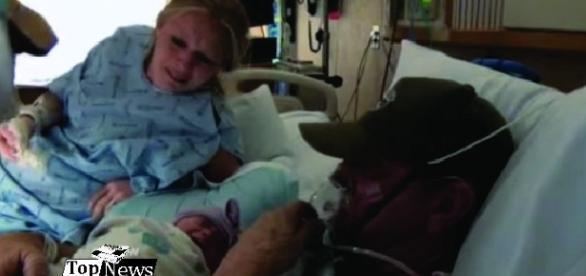 Diane antecipa parto para pai conhecer filha antes de morrer