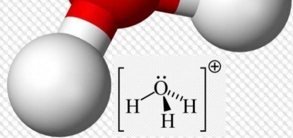 Hydronium-ion 3D balls, Wikimedia Commons wikipedia