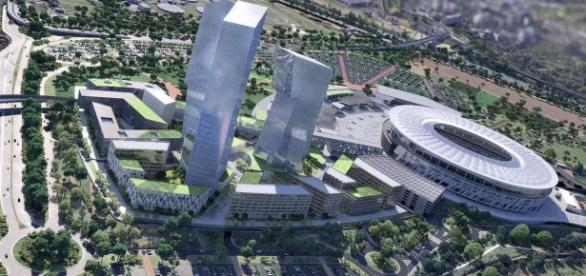 Il progetto del complesso di Tor della Valle
