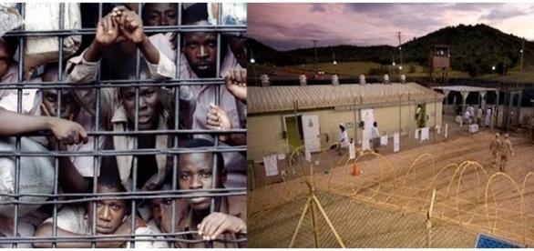 Muitos presos vivem em condições sub-humanas nessas penitenciárias