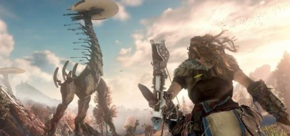 Watch Robot Dinosaurs Get Hunted in Horizon: Zero Dawn - GameTribute - gametribute.com