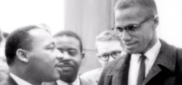 Encontro entre Martin Luther King Jr. e Malcom X (fonte: Wkipedia)