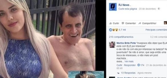 Prefeito de Canindé - BA posta fotos com sua namorada bem mais jovem que ele.