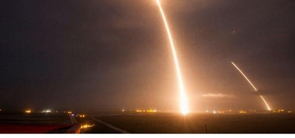 Space X's Falcon 9 rocket launched from Cape Canaveral ... - dailymail.co.uk