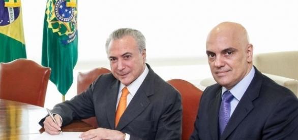 Michel Temer indicou Alexandre para o STF e ele foi aprovado pelo Senado
