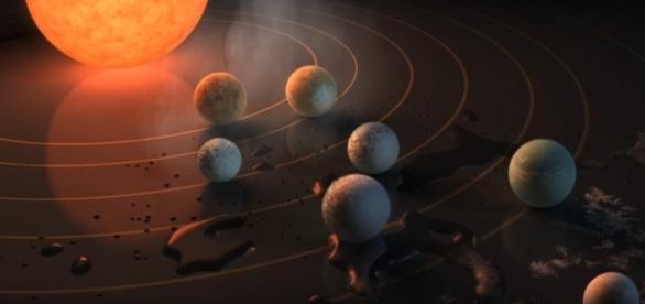NASA encontra sistema solar com planetas similares a Terra. Reprodução: Youtube/JPLnews
