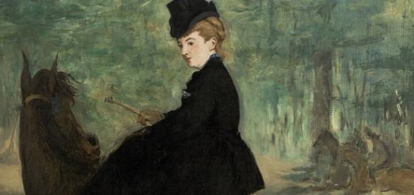 A Amazona - Retrato de Marie Lefébure - Pintura de Édouard Manet