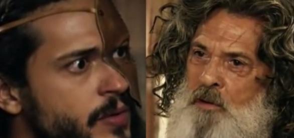Tobias e Quemuel na novela 'A Terra Prometida' (Divulgação/Record)