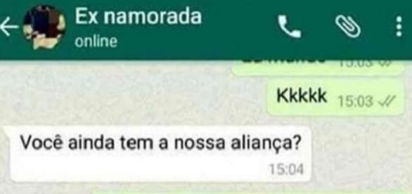Fábio tirou sua ex-namorada de forma brilhante no WhatsApp