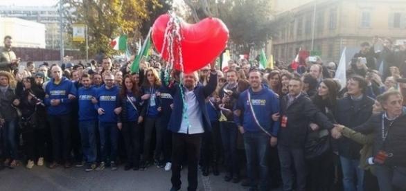 Il capo del Movimento5Stelle, Beppe Grillo