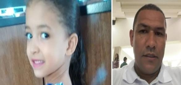 Na foto a imagem da menina que foi morta por um conhecido da família. Os parentes da vítima estão desolados.
