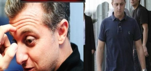 Na imagem o apresentador da TV Globo que está sendo condenado a pagamento de multa pela posse inadequada da área.