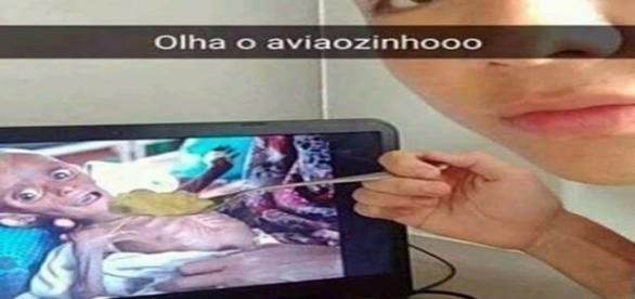 Thiago Ludvichack fez trollagem com criança desnutrida na internet.