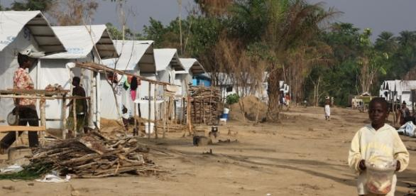 Bahn refugee camp, 50km from the Liberia - Wikipedia Free Use